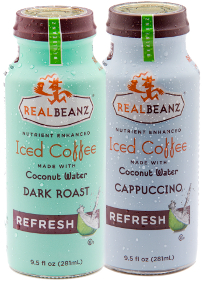 RealBeanz Iced Coffees made with Coconut Water
