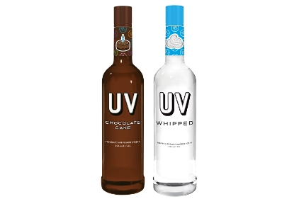 UV Chocolate Cake and Whipped vodkas
