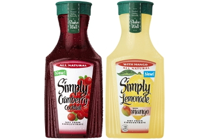 Simply Cranberry Cocktail and Lemonade with Mango