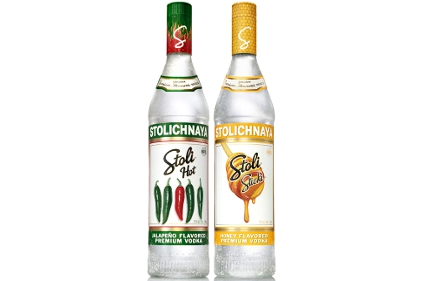 Stoli Hot and Stoli Sticki vodkas
