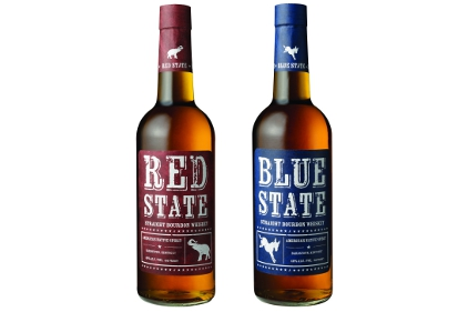 Red State and Blue State Straight Bourbon Whiskey