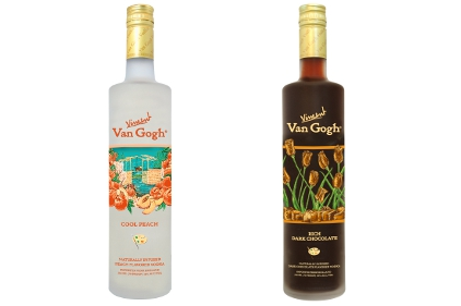 Van Gogh Dark Chocolate and Cool Peach Vodkas