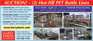 AUCTION! - (2) Hot-Fill PET Bottle Lines
