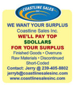 WE WANT YOUR SURPLUS