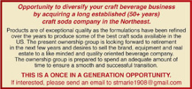 Opportunity to diversify your craft beverage business
