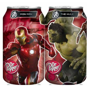 Dr Pepper Avenger cans in body