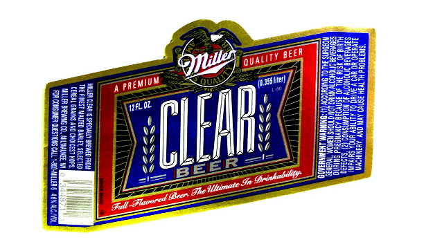 Clear Beer Label Head On