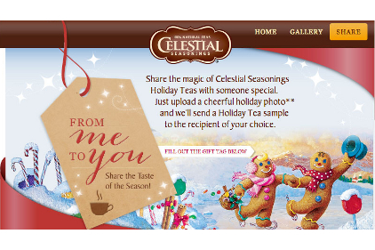 "Celestial Seasonings ""From Me To You"" promotion"