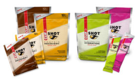 Clif Shot Electrolyte Hydration Drink Mix and Protein Recovery Drink Mix