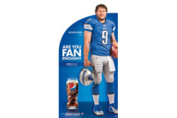 "Pepsi's ""Are You Fan Enough"" campaign featuring Matthew Stafford"