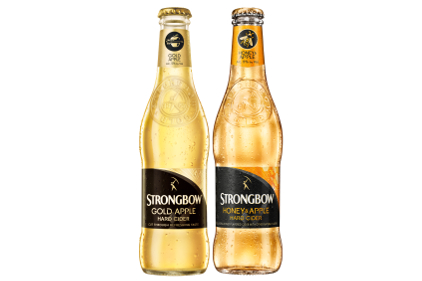 Strongbow Gold Apple Hard Cider and Strongbow Honey & Apple Hard Cider