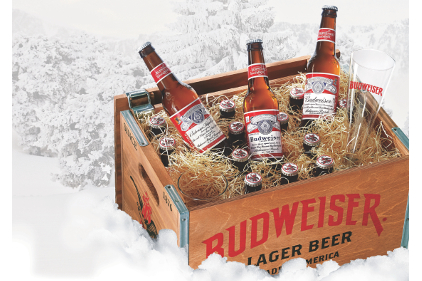 Budweiser limited-edition, handmade wooden crates and classic packaging