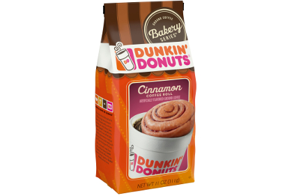 Dunkin' Donuts Cinnamon Coffee Roll flavored coffee