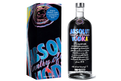 Ongebruikt Absolut Vodka launches limited-edition Andy Warhol bottle | 2014 XQ-24