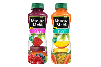 Minute Maid To Go Tropical Blend and Berry Blend