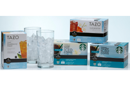 Starbucks Sweetened Iced Coffee and Tazo Sweetened Iced Tea K-Cup Packs