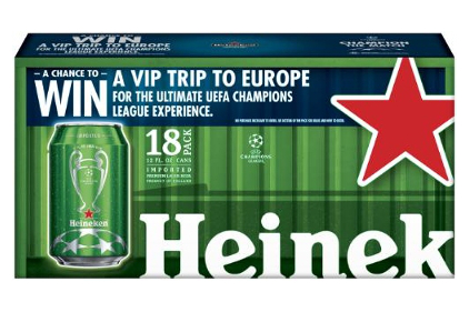 Heineken UCL packaging