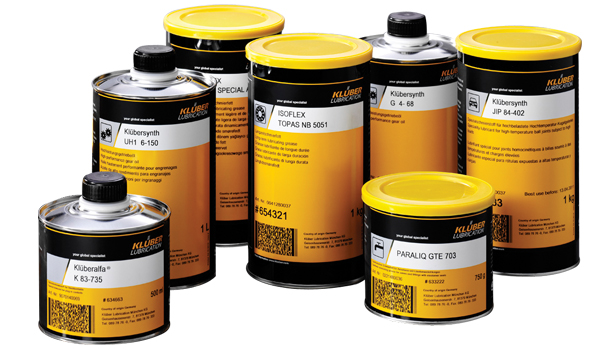 Klueber lubricants product range