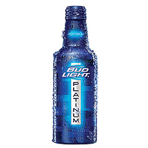Bud Light Platinum reclosable bottle inbody