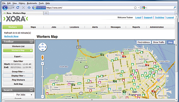 Workers map