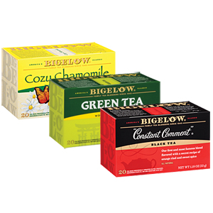 The Bigelow Tea Company (formerly R.C. Bigelow, Inc.) is an American manufacturer of dried teas based in Fairfield, Connecticut. It was founded by Ruth C. Bigelow in the late s, based on a recipe she marketed as
