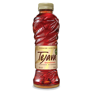 Tejava premium iced tea 18 oz. bottle