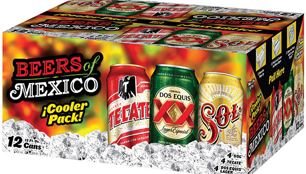 Beers of Mexico cooler pack