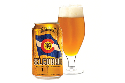 Belgorado can and glass