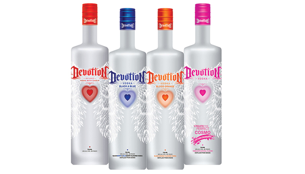 Devotion Vodka bottles
