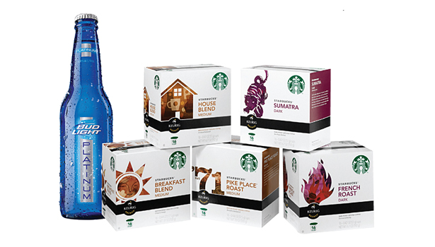 Bud Light Platinum and Starbucks K-Cups