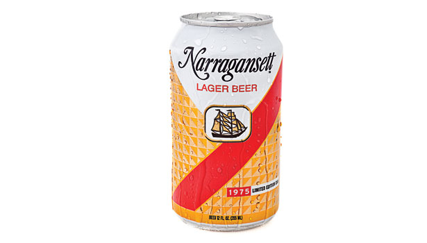 Narragansett beer 1975 retro can