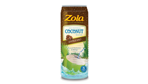 Zola coffee-flavored coconut water