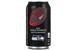 Coke Zero Seattle super bowl can