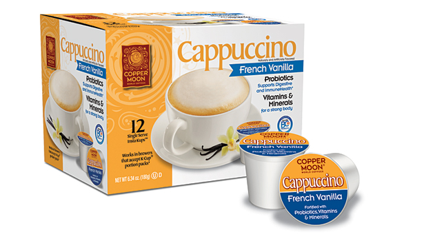 Copper Moon probiotic cappuccino