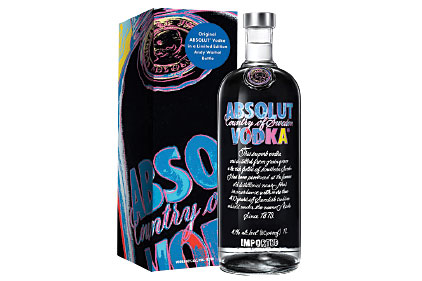 Absolut Warhol gift carton and bottle