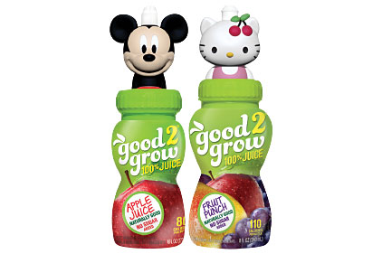 Mickey apple juice and Hello Kitty