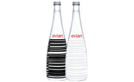 Evian glass
