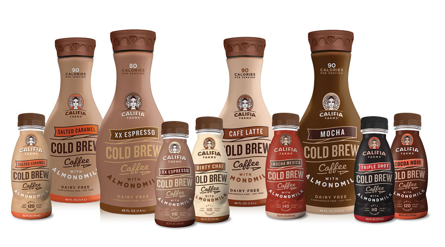 Califia Farms drink lineup