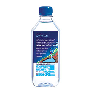 fiji water new label
