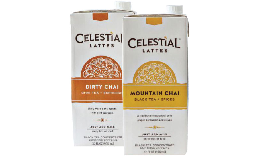 Celestial Seasonings lattes tea