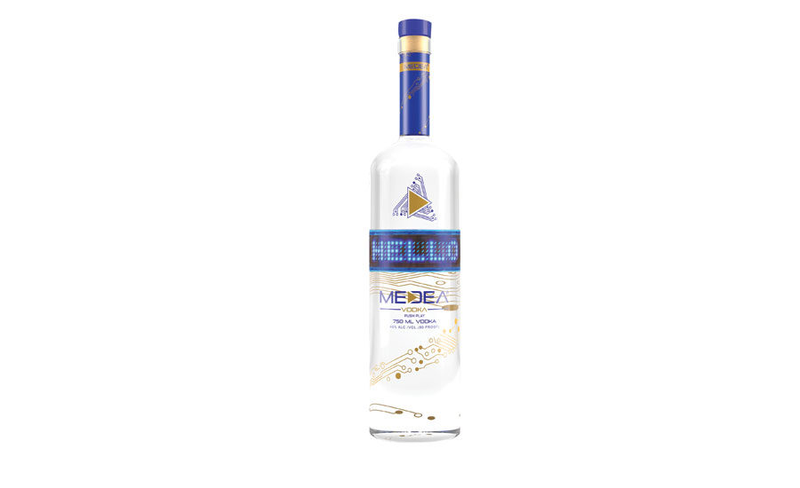 medea vodka offers interactive packaging with bluetooth