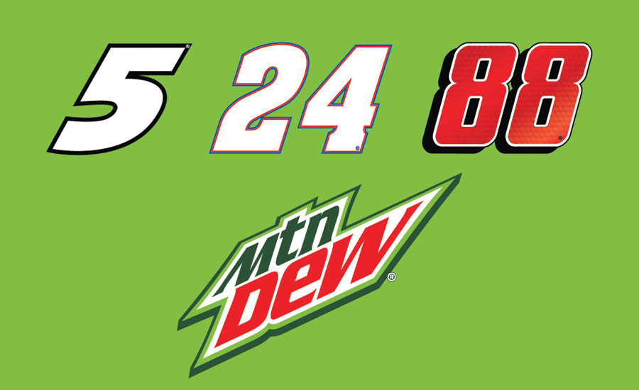Mountain Dew racing lineup 2016