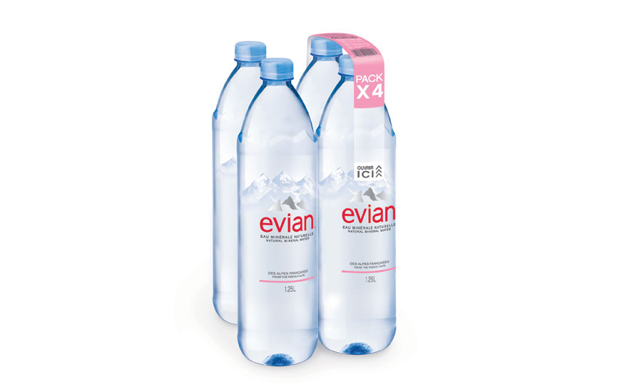 Evian bottle