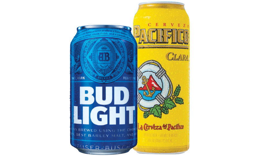 Bud Light and Pacifico