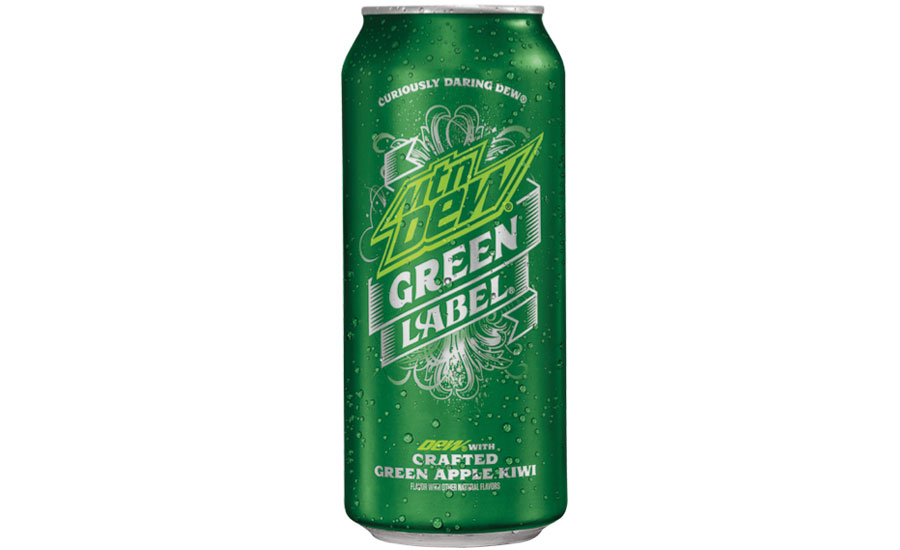 Mountain Dew green label can