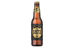 1872 bottle:    High-end and super-premium trends within the beverage alcohol market have benefited package store sales, IBISWorld reports. (Image courtesy of Straub Brewery)