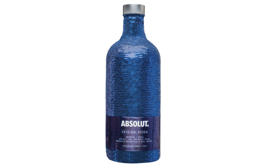 Absolut Vodka Sequin Bottle