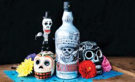 Tequila Cazadores Día de los Muertos bottle by Mister Cartoon - Beverage Industry