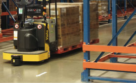 Guided vehicles commonly share the warehouse floor with human counterparts. - Beverage Industry