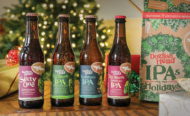"Dogfish Head is bringing ""joy to the world"" with the release of its IPAs for the Holidays variety 12-pack. - Beverage Industry"
